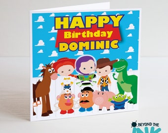 Personalised Toy Story Birthday Card - Woody - Buzz - Jessie - Rex