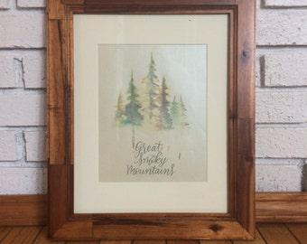 Smoky Mountains- Great Smoky Mountains - Smoky Mountains print- Mountains printable-Mountains watercolor - Mountains Wall art-Smokies print