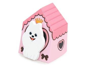 Pomeranian Puppy Sticky Notes // Bbomi Pomeranian Dog Post-It Page Flags // Pomeranian Bookmark // Pomeranian Stationery
