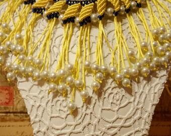 Macrame necklace, Adjustable necklace