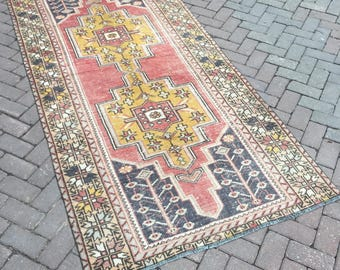 Oushak rug. Area Oushak rug. Boho rug. New fashion perfect faded rug. Handwoven. Floor rug. Decorative rug. 49.21x95.67inc.---125x243cm