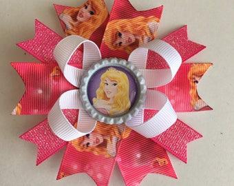 Aurora Hairbow- Aurora Hairbows- Aurora Bow- Aurora Bows- Aurora- Sleeping Beauty Hairbow- Sleeping Beauty Bows- Sleeping Beauty- Princess-