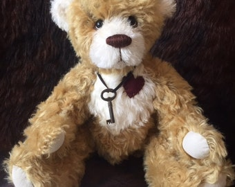 Wilson - artist made, hand-made, mohair, teddy bear, collectible, one-of-a-kind