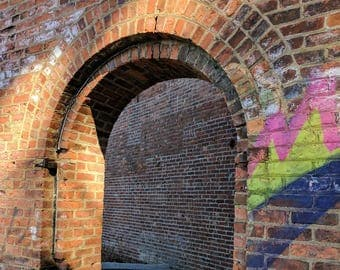 Photograph of a Brooklyn Brick Arch