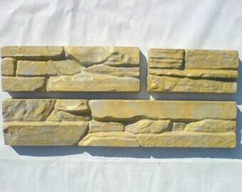 Plastic Molds for Concrete Plaster wall stone tiles Garden Decoration  6 pc x lot