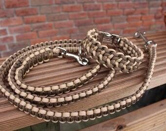 """Stripes"" set: Leash & collar, individually customised"