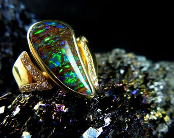 Magic Opal ring GelbGold