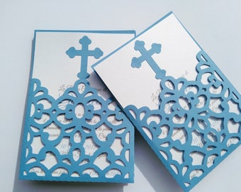 Invitation envelope Cross first communion/baptism/birthday