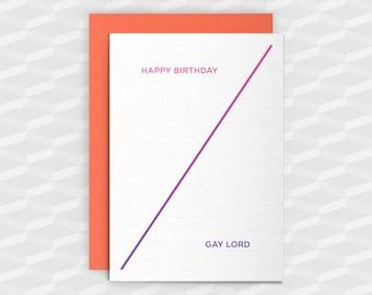 Rude Birthday Cards|Happy Birthday Rude|HAPPY BIRTHDAY GAYLORD|Rude Greetings Card|Crude Birthday Card|Sarcasm Cards|Inappropriate Cards|Gay