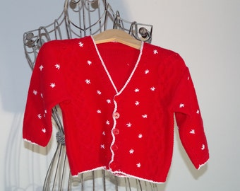 cute cotton baby jacket in red