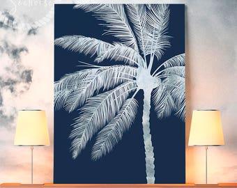 Silver Tropical Printable, Palm Tree Print, Tropical Print, Palm Downloads, Tropical Wall Poster, Palm Print, Tropical Art