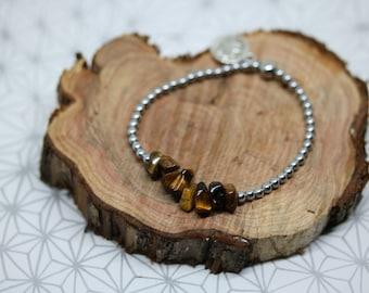 Tiger eye bracelet and hematite