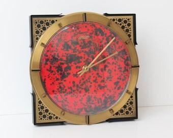 Rare/Atlanta/Wall Clock/Fat Lava/design/70s Clock/Mid Century Wall Clock/Retro Clock