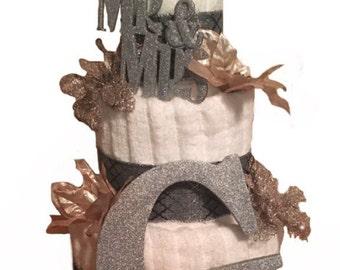 Towel cake, Wedding shower, Bridal shower, Household shower, Housewarming, Bride and Groom
