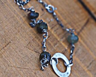 Tourmaline, 925 sterling silver bracelet