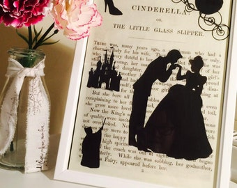 Cinderella silhouette papercut