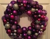 Purple Wreath with Lights...