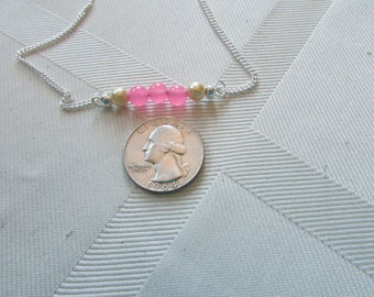 Sterling Silver Chalcedony Gemstone Necklace