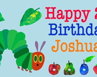 A Very Hungry Caterpillar Birthday Banner/Backdrop