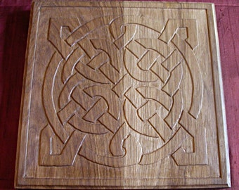 AR Mengleuz: Woodcarving - Wood carving / Celtic tracery - Celtic knotwork