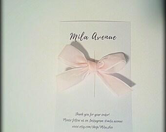 Light Pink Velvet Bow