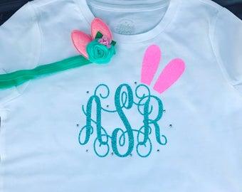 Bunny Ear Monogram Tshirt