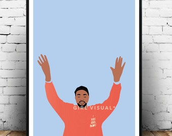 Kanye west wall art, Kanye west print poster, life of pablo art, yeezy wall art, yeezy poster, kanye west home decor/gift.