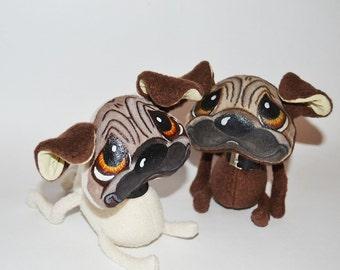 Toys Pug  Plush Dog Soft Toy Puppy Stuffed Animal Gift