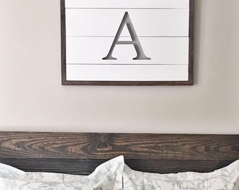 Monogrammed Cut out Wall Sign