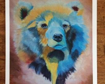 The Blue Bear- print