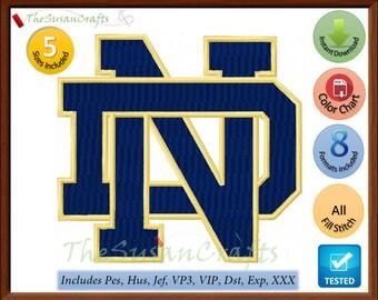 NOTRE DAME embroidery DESIGNS Pes, Hus, Jef, Dst, Exp, Vp3, Xxx, Vip