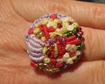 crochet ring * crochet ring * crochet jewelry