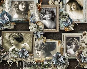 Digital Scrapbook Clusters, Vintage Cluster Frames, Digital Scrapbooking, Digital Frames, Frame Cluster, Heritage, Genealogy,