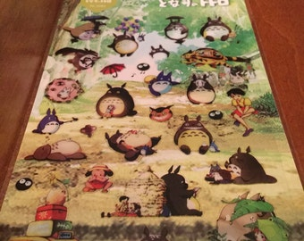 One sheet of My Neighbor Totoro sticker sheets for scrapbooks, planners or journals Kawaii Japan Daisyland Stickers