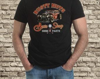 Rusty Nuts hot rod t-shirt
