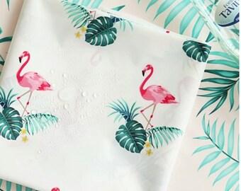 flamingo waterproof.flamingo fabric.poly 100%.wide 150cm* 90cm.waterproof fabric.living deco.kitchenfabric. shower curtain