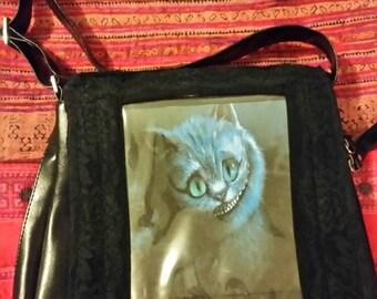 Cheshire cat photo window handbag