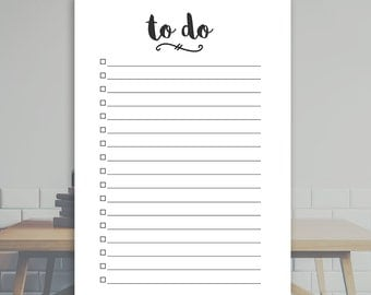 """Printable To-Do List (5.8""""x8.3"""") - A5 Planner Insert - Printable PDF *INSTANT DOWNLOAD*"""