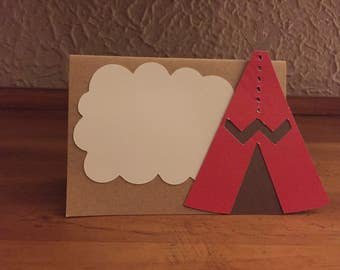 Teepee place cards