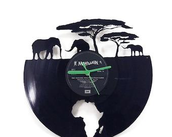 Africa Vinyl Clock
