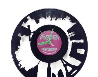 Paris Vinyl Clock