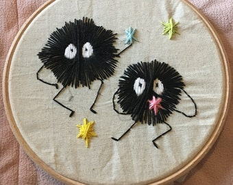 Soot sprites embroidery
