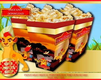 The lion guard Digital Printable,the lion guard Popcorn box,the lion guard Party, The lion guard,Birthday,the lion king popcorn,kion popcorn