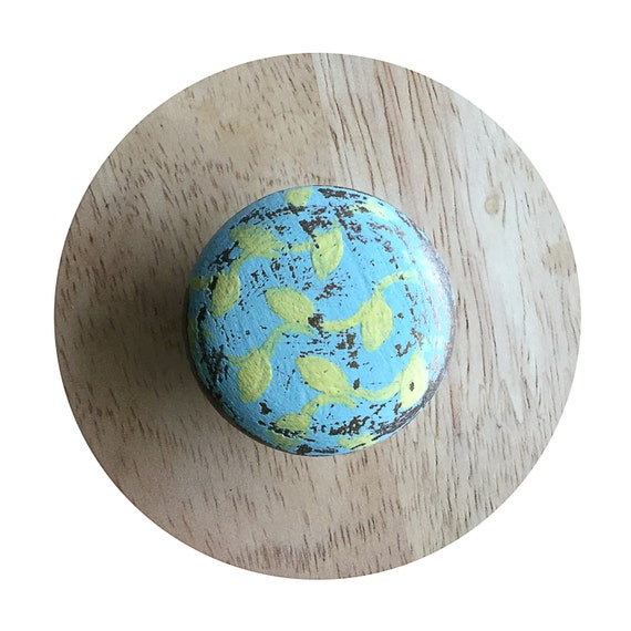 Rustic turquoise drawer knobs shabby chic blue drawer for Turquoise door knobs