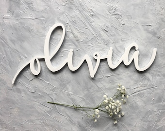 Custom Wood Name Cutout - Word Cutout - Wood Lettering - Name Sign - Wall Decor - Nursery Decor