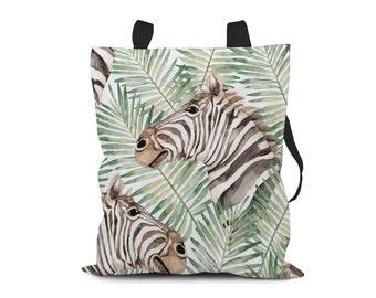 Zebra Tote Bag. Hard-wearing Polyester Canvas Tote Bag.  Fully Lined Tote Bag.  Bag 4 Life. Market Bag. Shopping Bag. Book Bag.