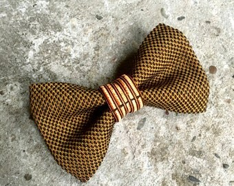 YUMI bow tie-Brown | Gold