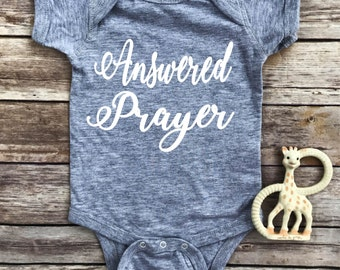Answered Prayer, pregnancy announcement, new baby, baby shower gift, little blessing, prayers answered, baby gift, newborn clothes, newborn