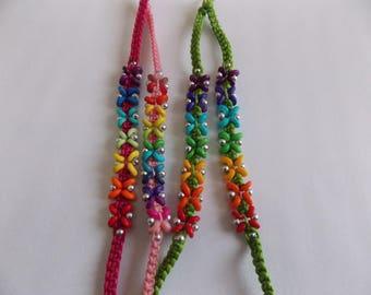 Flower color Rainbow bracelets