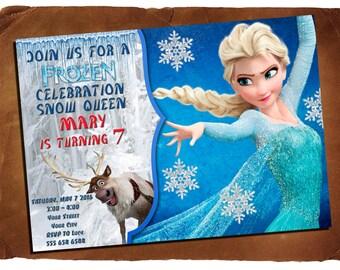 Frozen invitation, Frozen birthday party
